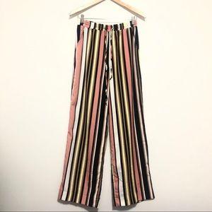 NWT Buffalo Multicolor Striped Wide-Leg Pants S